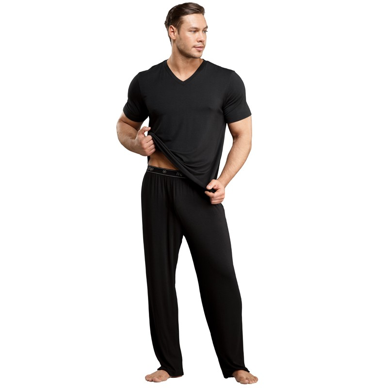 Male Power Bamboo Tee Shirt Black Med