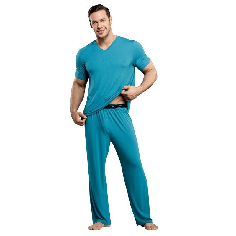 Male Power Bamboo Tee Shirt Teal Med