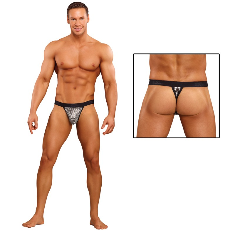 Male Power Wave Micro Thong Black Large