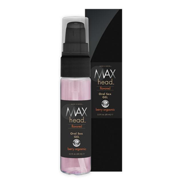 Max Head Oral Sex Gel, Berry Orgasmic, 2.2 fl oz, Pump Bottle, Boxed