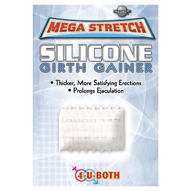 Mega Stretch Silicone Girth Gainer Clear