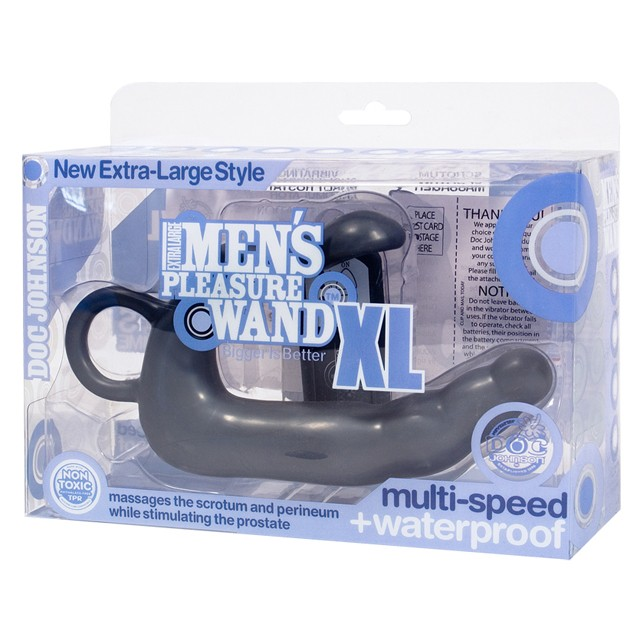 Mens Pleasure Wand - Extra-Large Charcoal