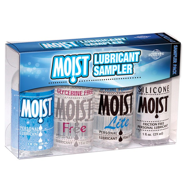 Mini Moist Lubricant Sampler (4-1oz Bottles)