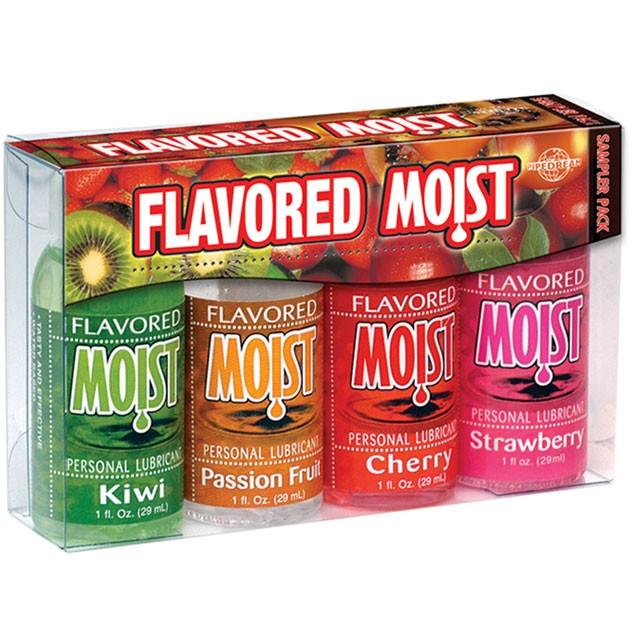 Moist Flavored Sampler Pack (4-1oz Bottles)