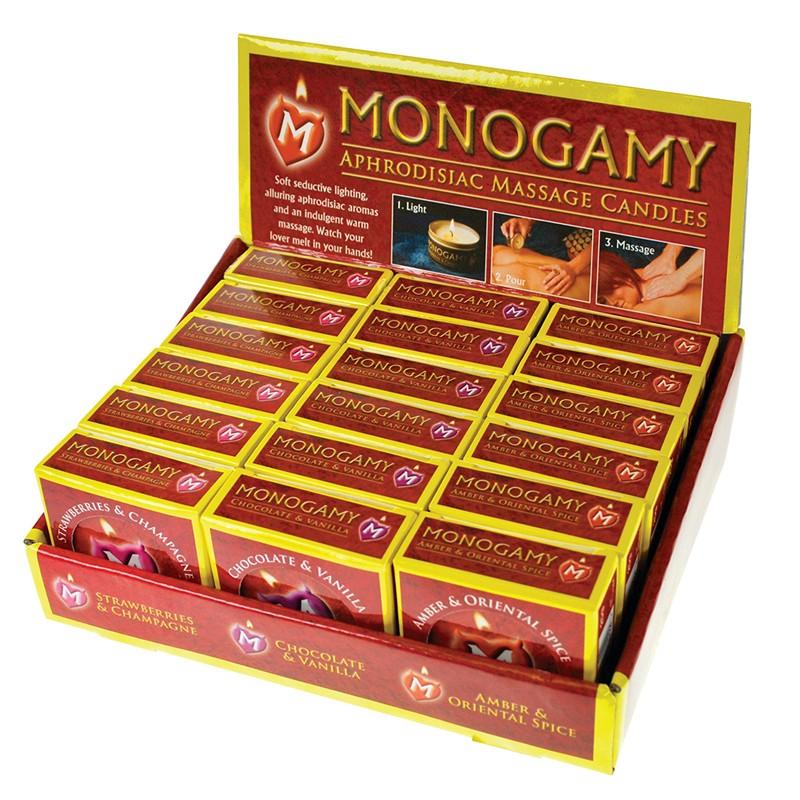 Monogamy Massage Candle 18pc Display