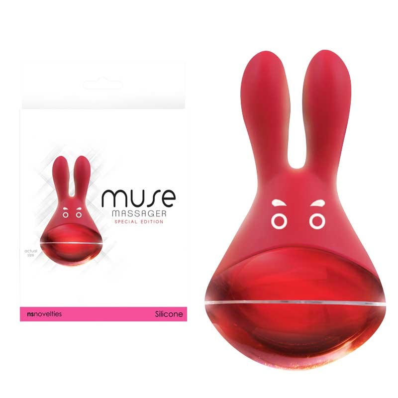 Muse Silicone Clit Stimulator -Red