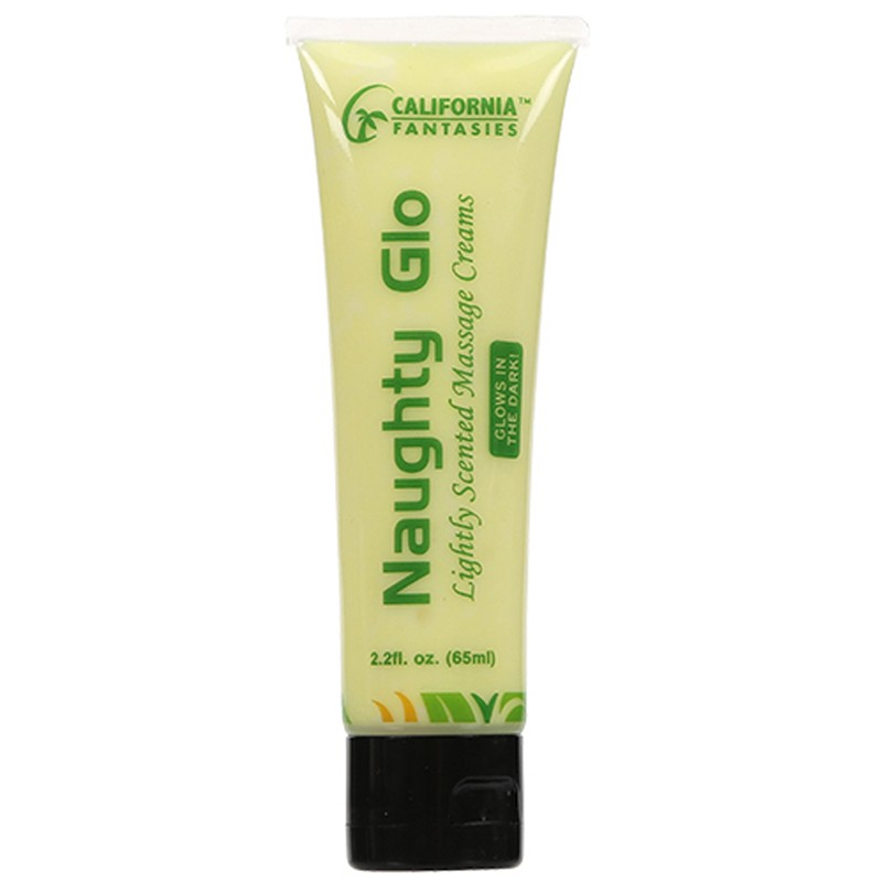 Naughty Glo Glow in the Dark Massage Creams 2.2oz tube (Yellow) Pina Colada