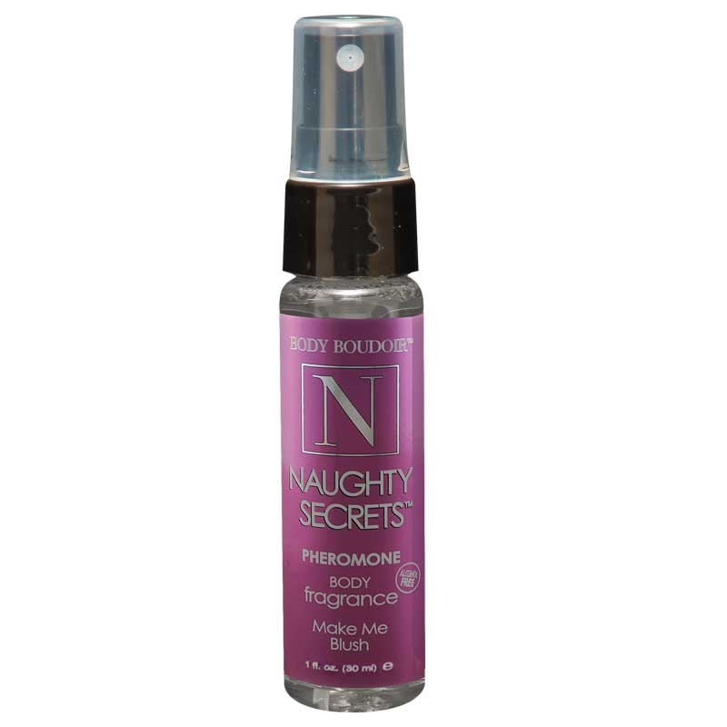 Naughty Secrets Body Mist w/Pheromones, Alcohol Free, Make Me Blush, 1 Fl.  Oz., Mist Bottle