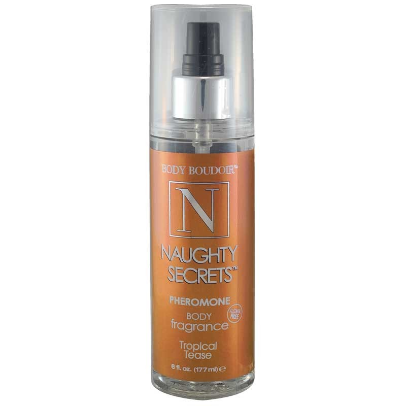Naughty Secrets Body Mist w/Pheromones, Alcohol Free, Tropical Tease, 6 fl oz, Mist Bottle