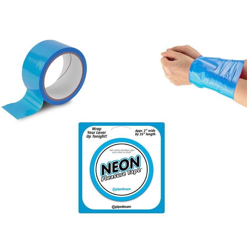Neon Bondage Tape Blue