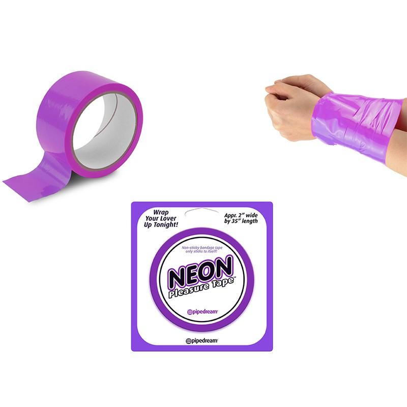 Neon Bondage Tape - Purple