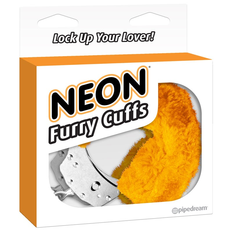 Neon Furry Cuffs - Orange