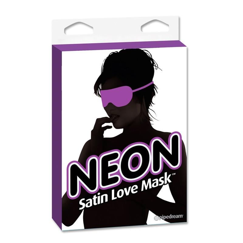Neon Satin Love Mask Purple