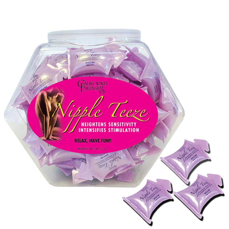 Nipple Teeze Intensifying Sensitivity Gel (Flavored and Scented) 10ml pillow (Fishbowl 72)