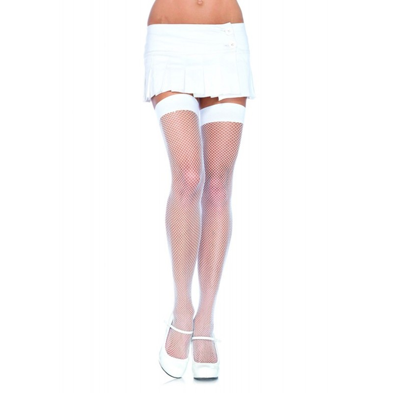 Nylon Fishnet Stocking O/S White