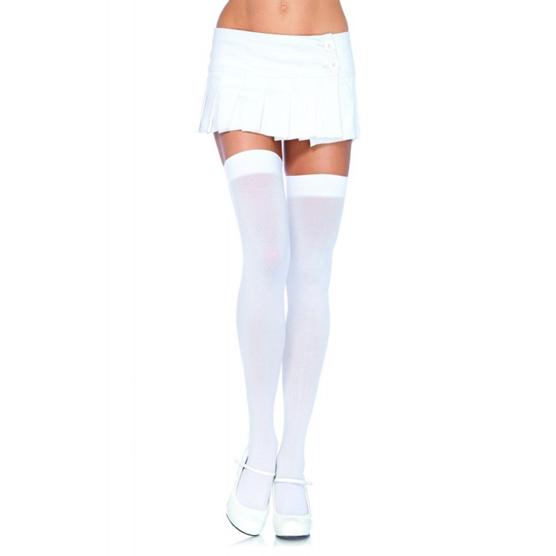 Nylon Over The Knee O/S White