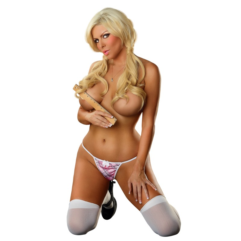 OMGstrings Schoolgirl G-string Pink One Size