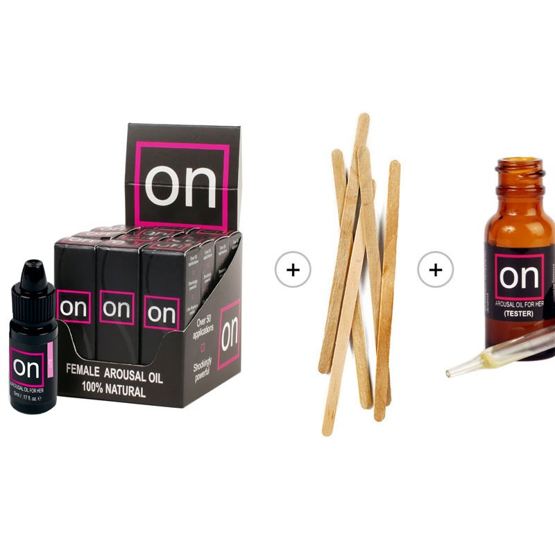 On Natural Arousal Oil For Her Lite Refill Kit (12 bottles)