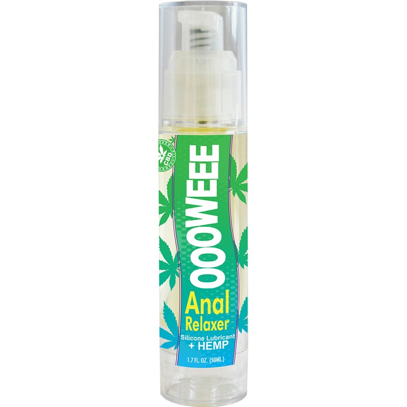 OOOWEE Anal Relaxing Silicone Lubricant with Hemp Seed Oil 1.7 oz bottle