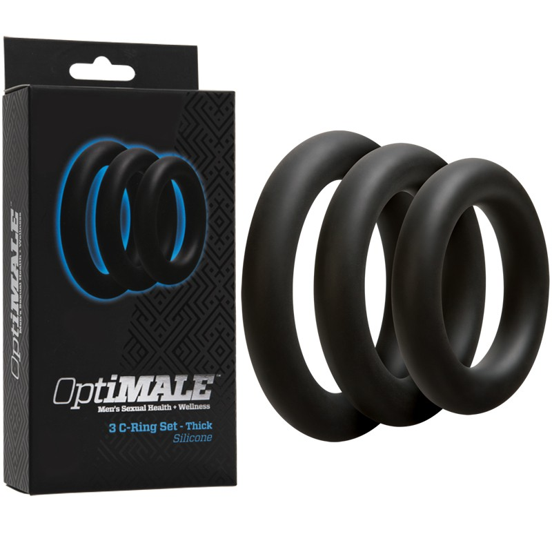 OptiMALE – 3 C-Ring Set – Thick Black
