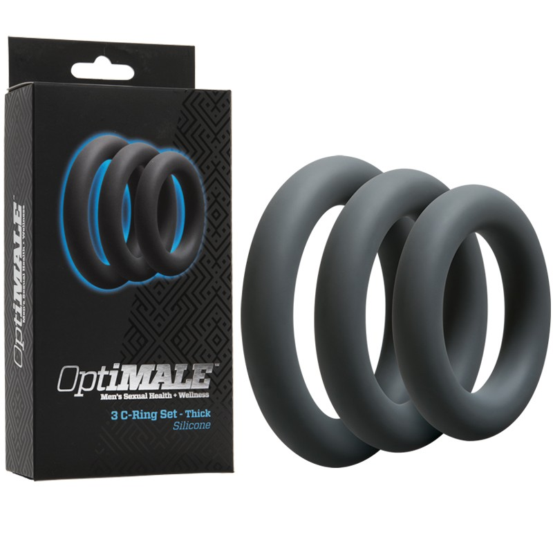 OptiMALE – 3 C-Ring Set – Thick Slate