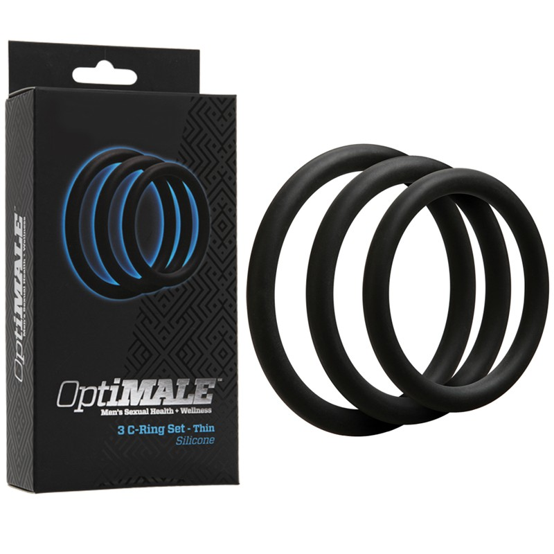 OptiMALE – 3 C-Ring Set – Thin Black