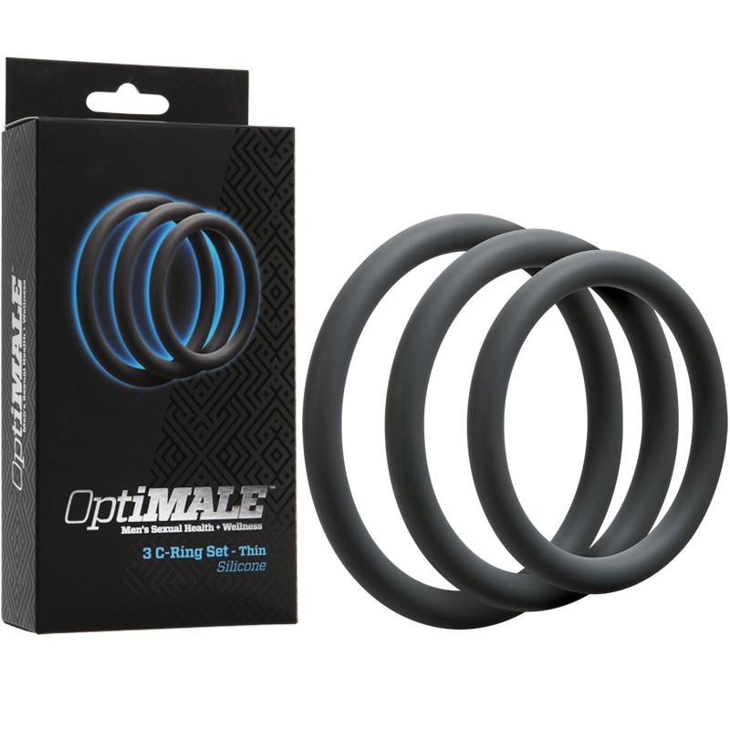 OptiMALE – 3 C-Ring Set – Thin Slate