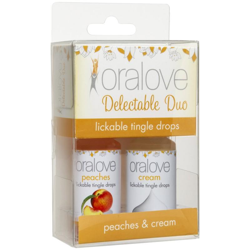 OraLove 2 Pack Tingling Duo Peaches & Cream