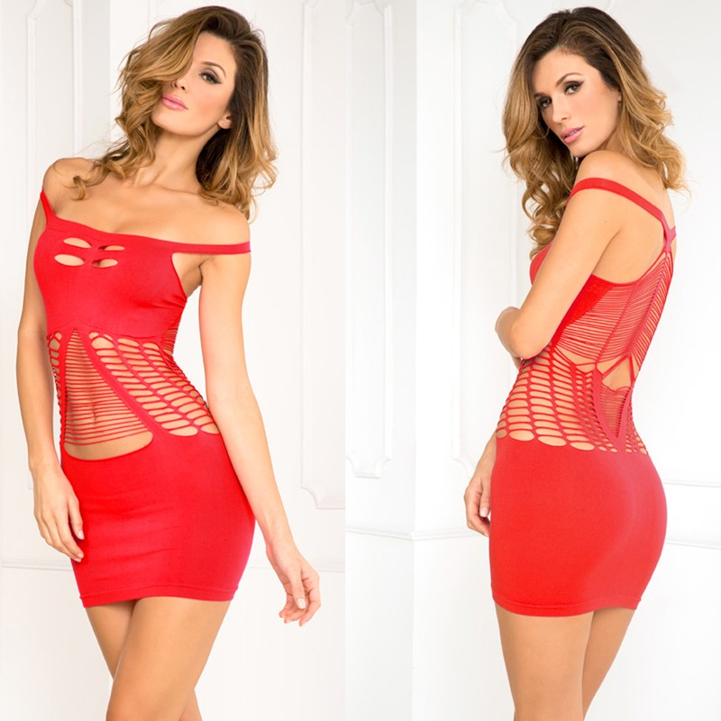 Perfect Coverage Seamless Dress Red O/S