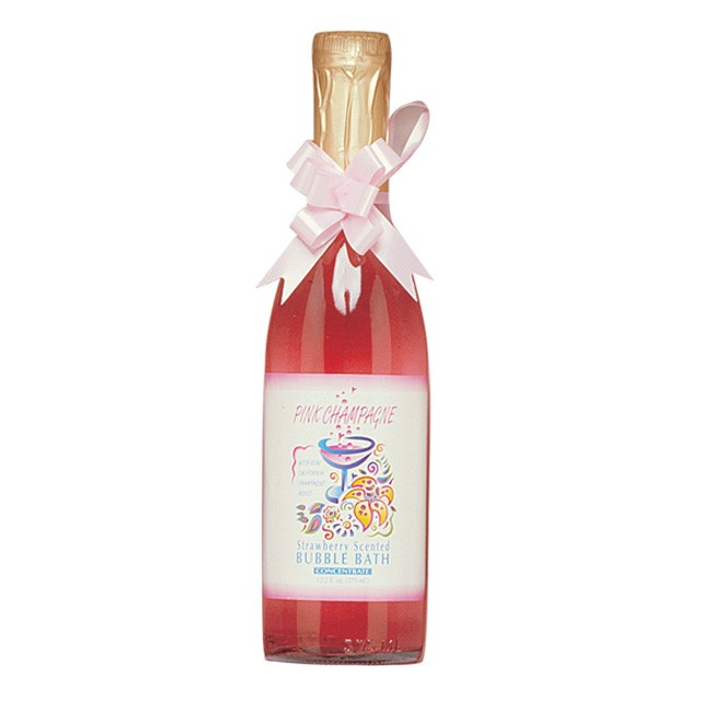 Pink Champagne Strawberry Scented Bubble Bath w/Pheromones 12.2oz