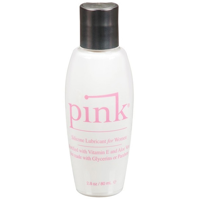 Pink Silicone 2.8oz Flip Top Bottle