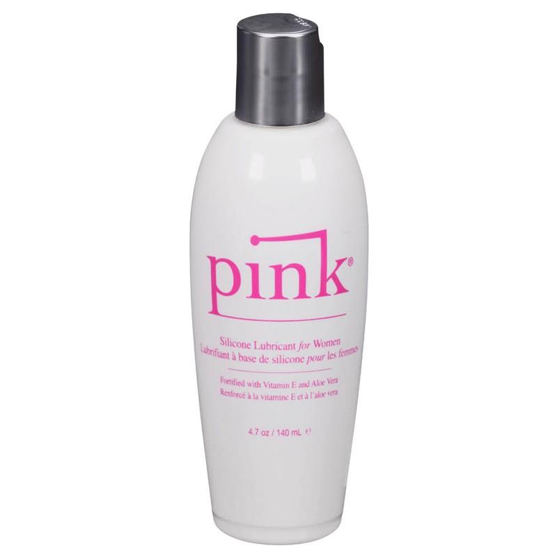 Pink Silicone 4.7oz Flip Top Bottle