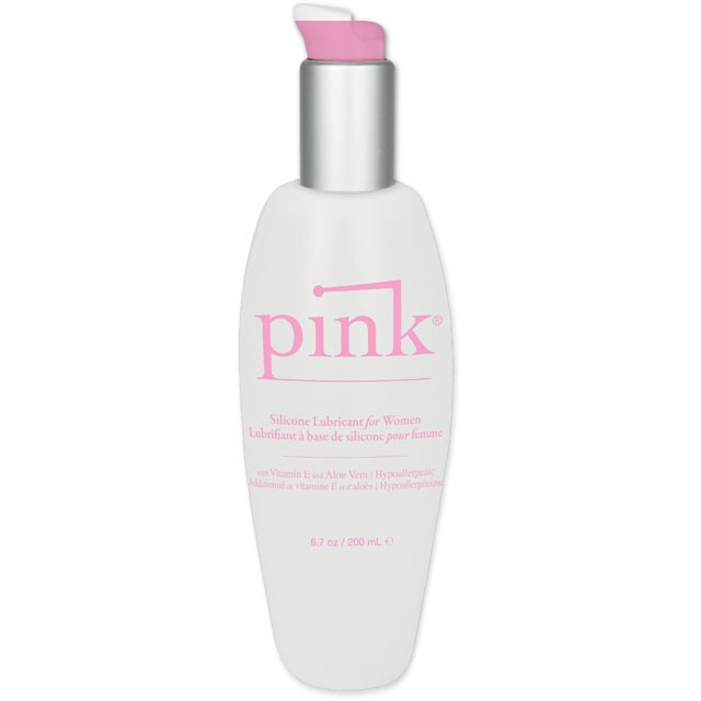 Pink Silicone Lubricant For Women 6.7oz
