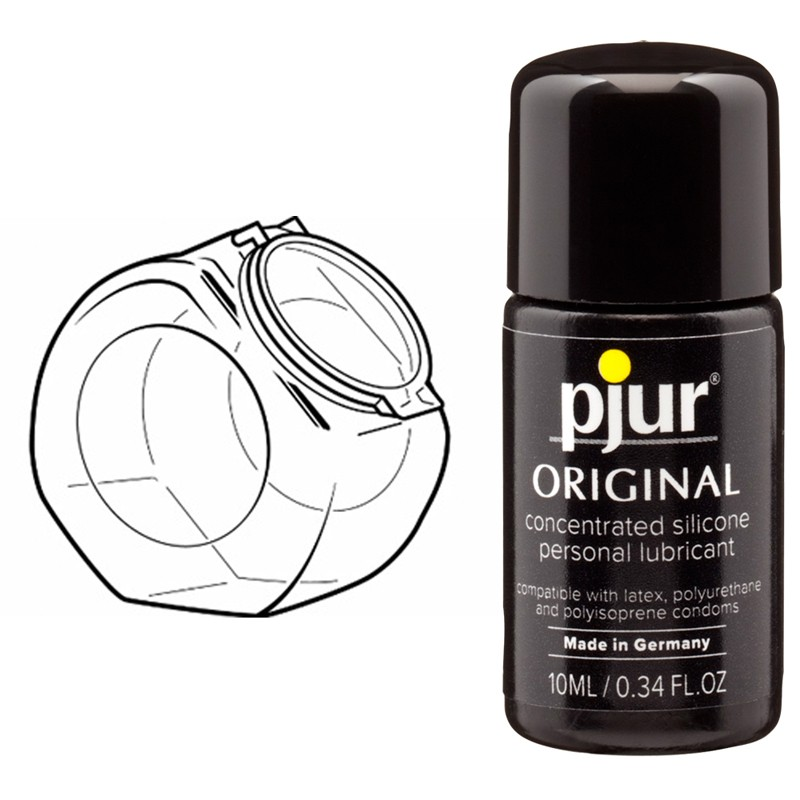 Pjur Original Silicone Lubricant 10ml Clambowl Display (50pk)