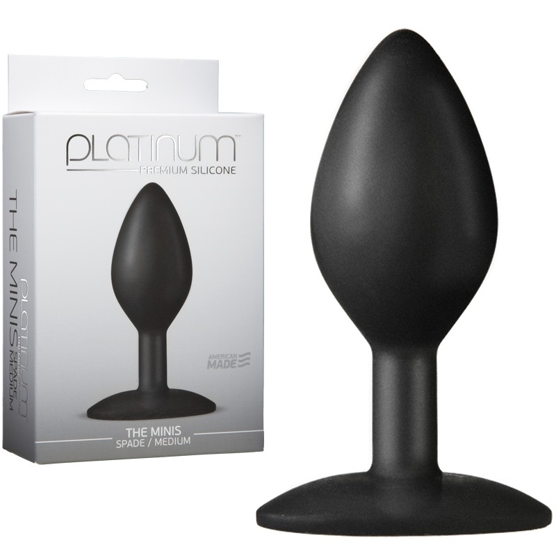 Platinum Premium Silicone - The Minis - Spade - Medium Black