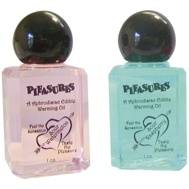 Pleasures Warming Oil Chocolate 1oz