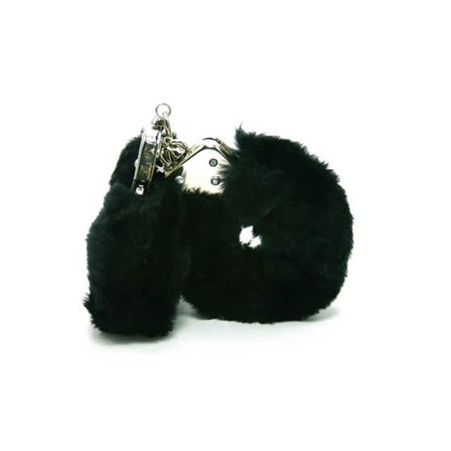 Plush Love Cuffs (Black)