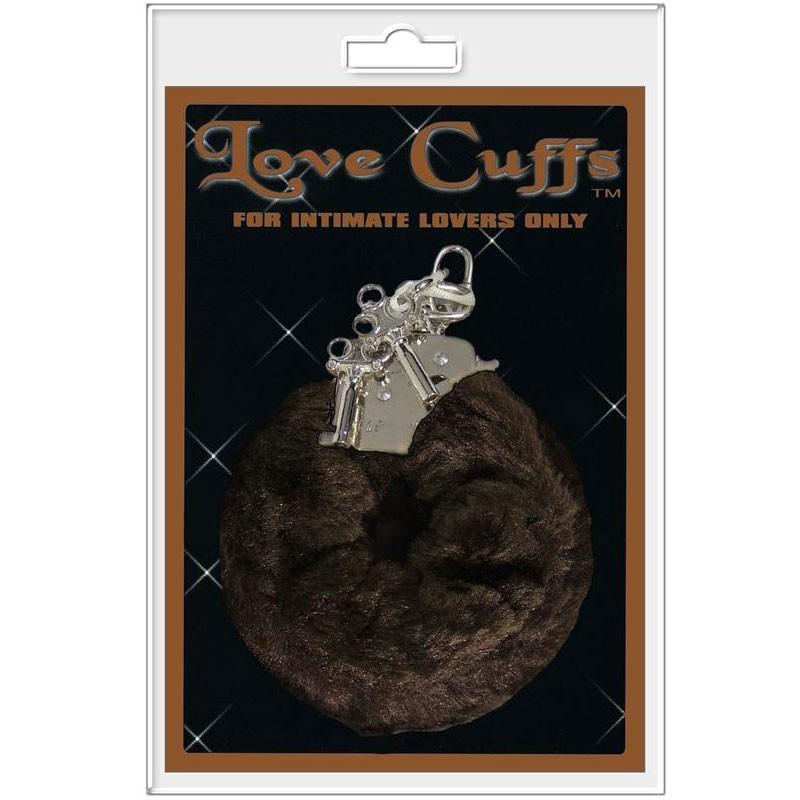 Plush Love Cuffs Brown