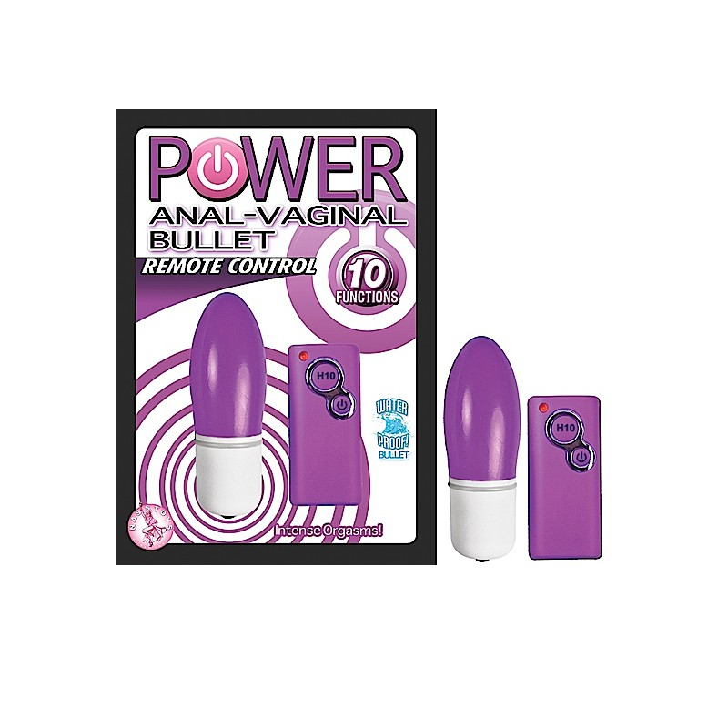 Power Anal-Vagina Bullet-Purple