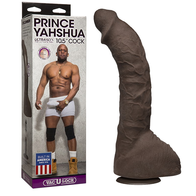 Prince Yahshua ULTRASKYN 10.5in Cock with Removable Vac-U-Lock Suction Cup
