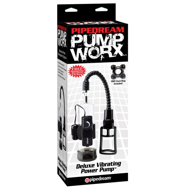 Pump Worx Deluxe Vibrating Power Pump Black