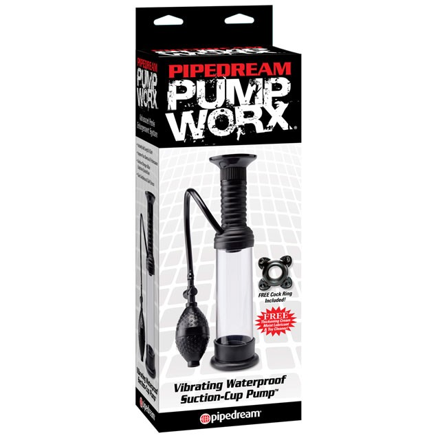 Pump Worx Vibrating Waterproof Wall Banger Pump Black