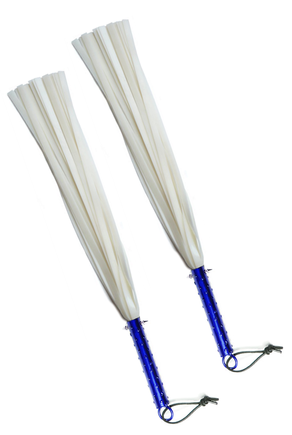 purple spotted dick white silicone floggers - sold in pair