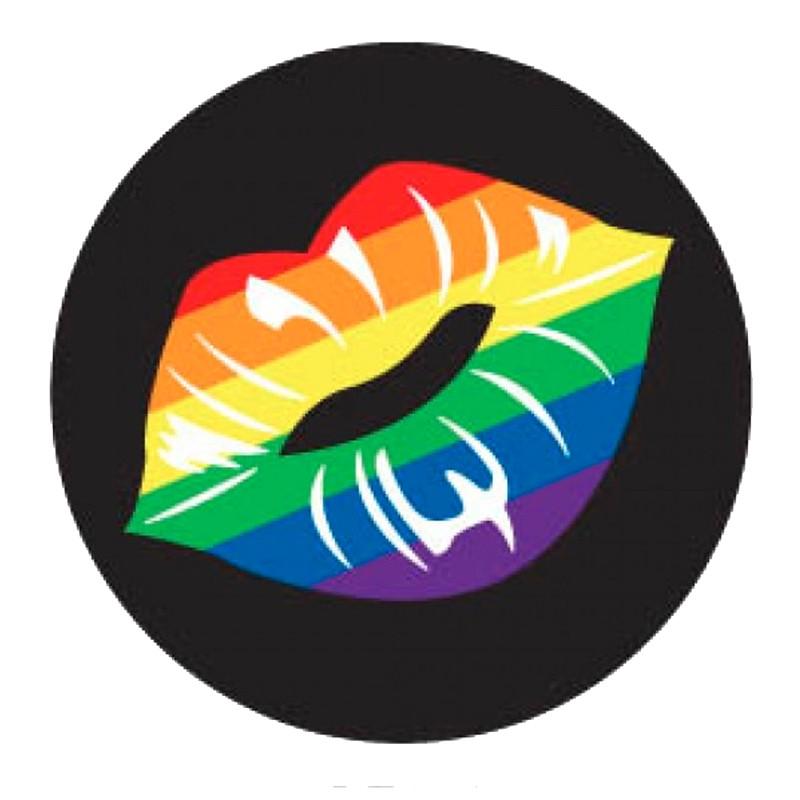 Rainbow Lips Button