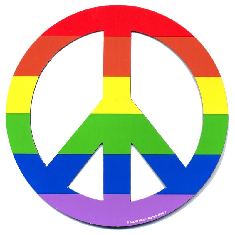 Rainbow Peace Flexible Magnet