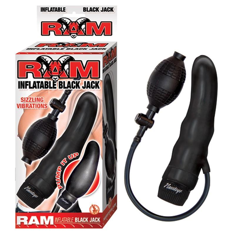 Ram Inflatable Vibrating Black Jack Black