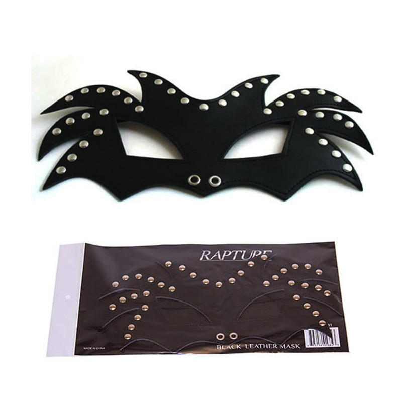 Rapture Black Leather Mask