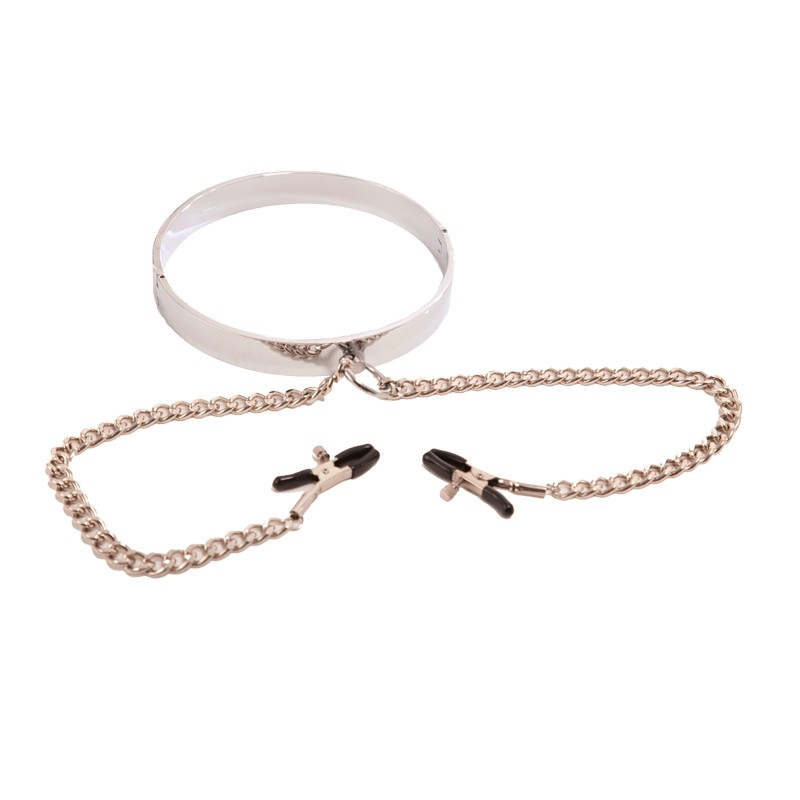 Rapture Stainless Steel Collar w/Nipple Clamps