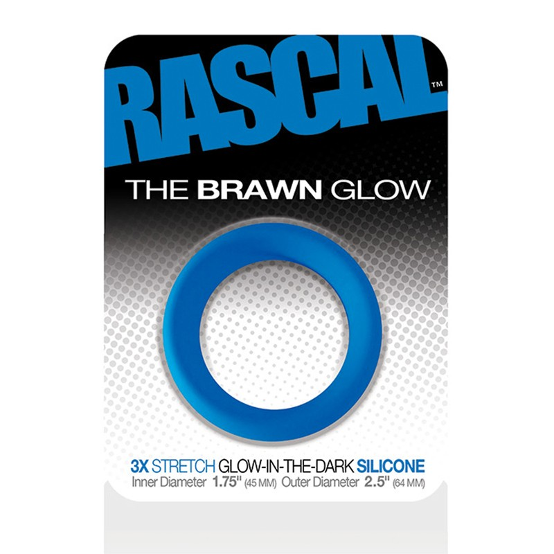 Rascal The Brawn Cockring Glow Blue