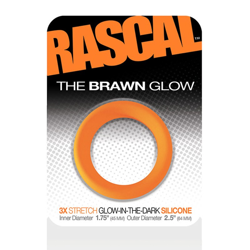Rascal The Brawn Cockring Glow Orange